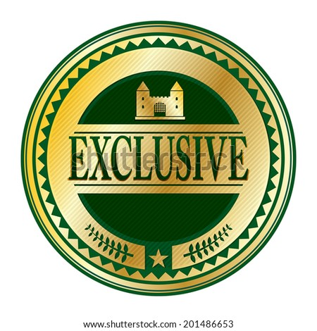 Stamp or label with the word exclusive written inside, vector illustration - stock vector