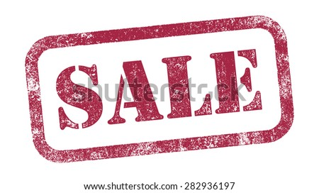 Stamp Sale - stock vector