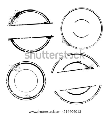 Stamp set. Vector Stamp without text - stock vector