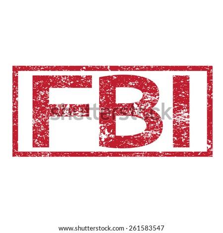 Stamp text FBI  - stock vector