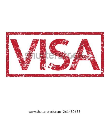 Stamp text VISA  - stock vector