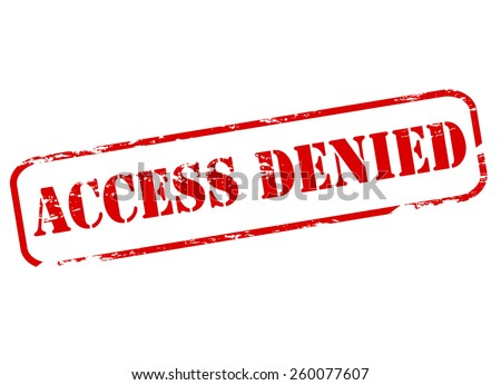 Stamp with text access denied inside, vector illustration - stock vector