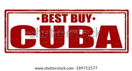 Stamp with text best buy Cuba inside, vector illustration - stock vector