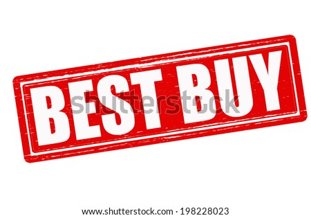 Stamp with text best buy inside,vector illustration - stock vector
