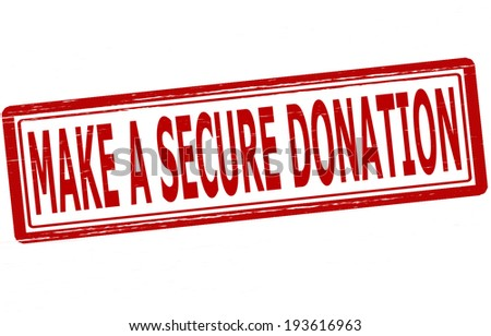 Stamp with text make a secure donation inside, vector illustration - stock vector