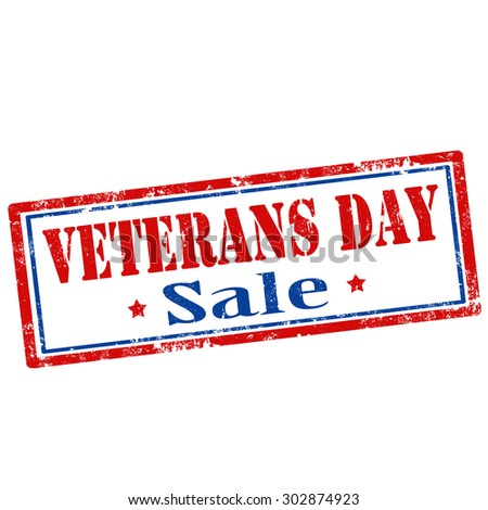 Stamp with text Veterans Day-Sale,vector illustration - stock vector