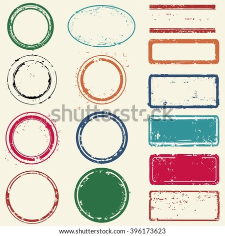 Stamps frames - stock vector