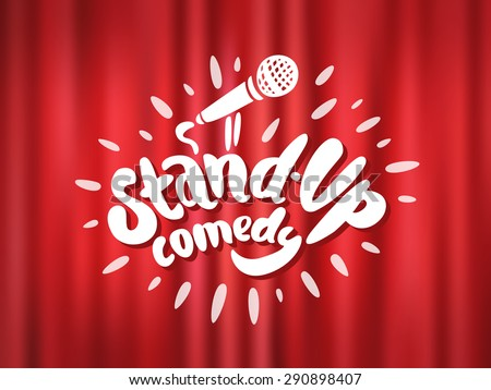 Stand up comedy. - stock vector