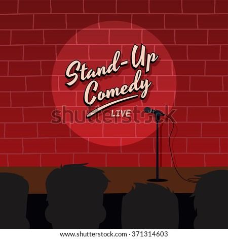 stand up comedy show - stock vector