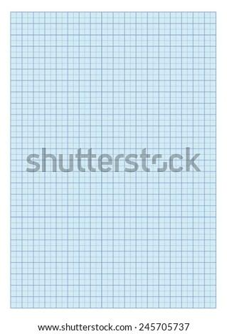 Standard A4 millimeter paper - Blue. - stock vector