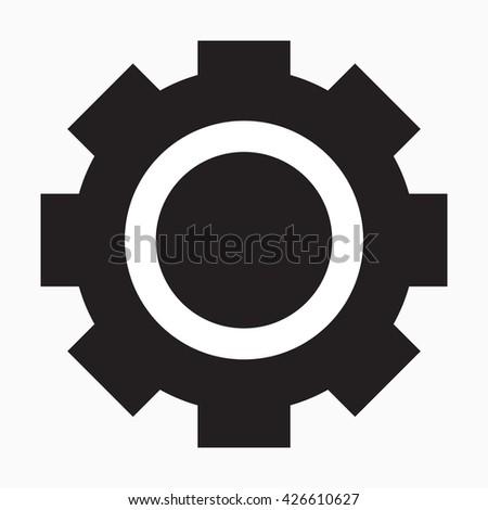 Standard Gear or Cog Icon Vector - stock vector