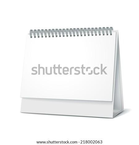 standing blank calendar isolated on white background - stock vector
