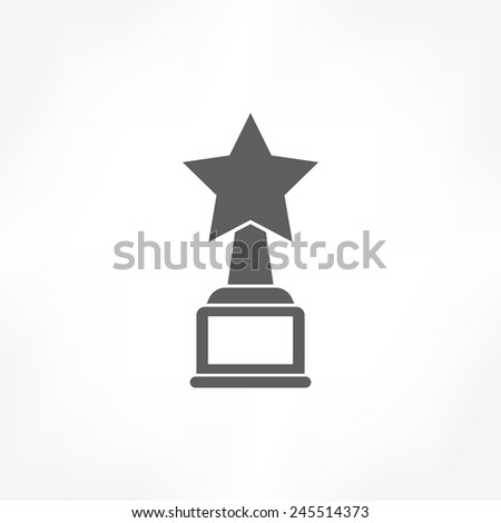 star award icon - stock vector
