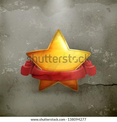 Star, award old style - stock vector