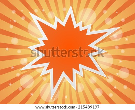 star burst abstract background - concept - stock vector