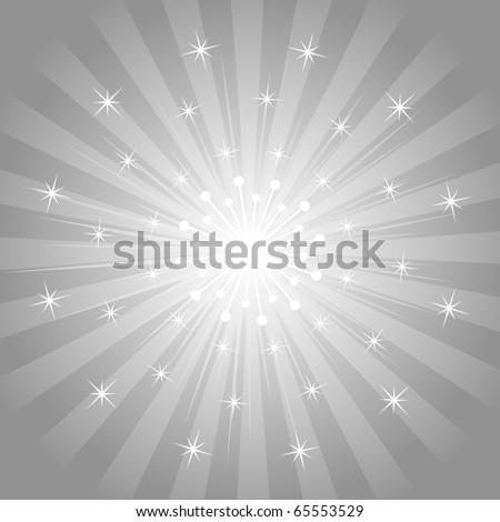 Star Burst Background - stock vector
