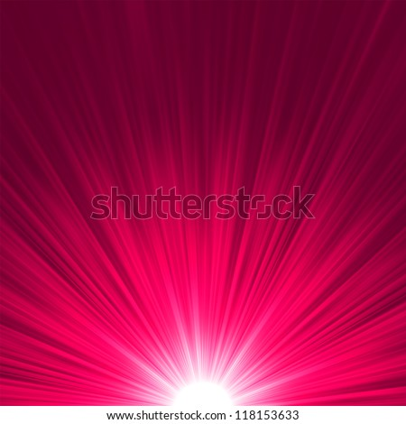 Star burst purple and pink fire. EPS 8 vector file included - stock vector