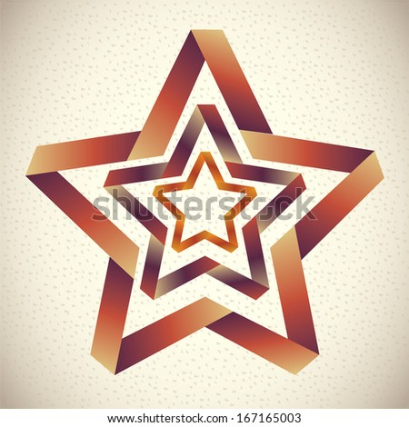 star design over  pattern background vector illustration  - stock vector
