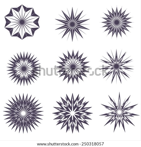 Star Graphic collection.Vector vintage burstings rays set - design elements for your design. Great for retro style projects. - stock vector