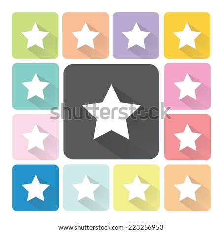 Star Icon color set vector illustration. - stock vector
