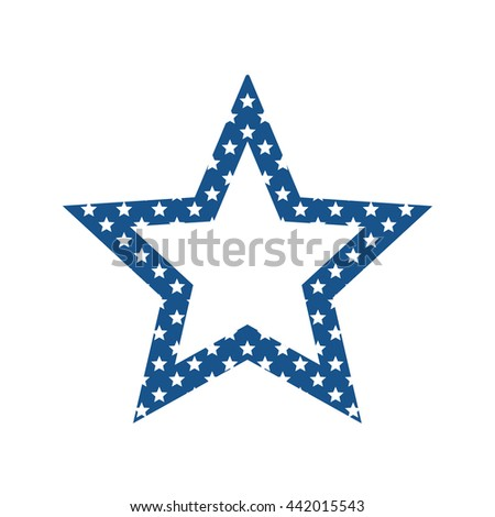 Star icon. Decoration design. vector graphic - stock vector