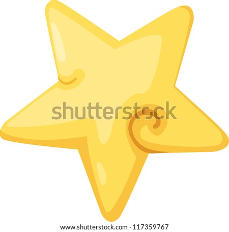 star icon vector Illustration - stock vector