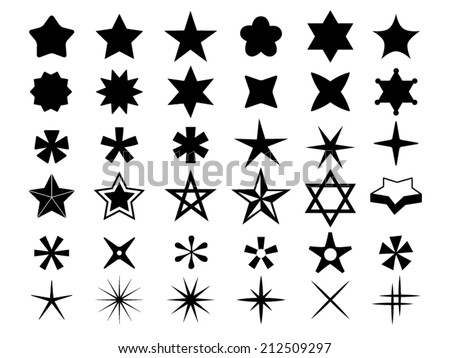 Star icons - stock vector