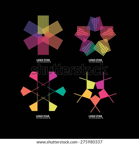Star icons and logos - stock vector
