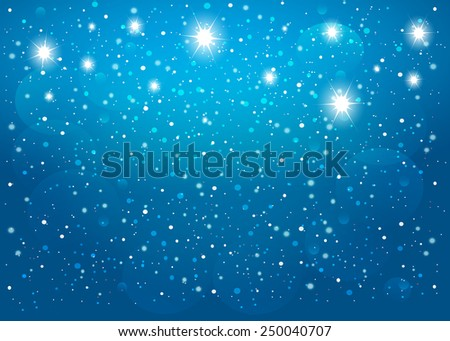Star in blue background. Vector EPS10. - stock vector