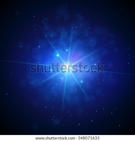 Star Light Background. Abstract Astrology Concept. Vector Illustration - stock vector