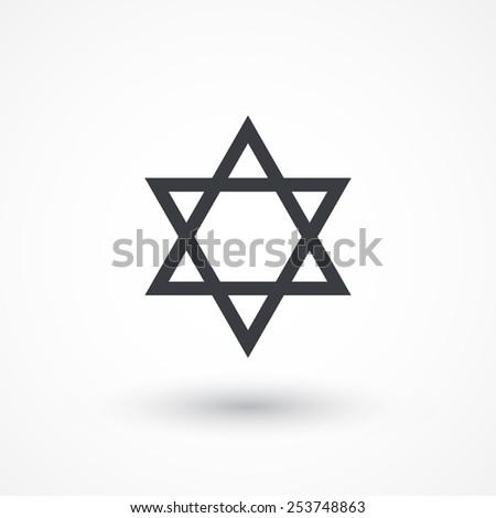 Star of David icon | sing | symbol. Flat design style  - stock vector