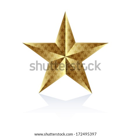Star on the white background - stock vector
