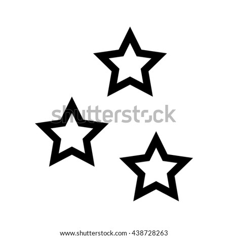 Star shape design. isolated figure of five points icon. vector g - stock vector