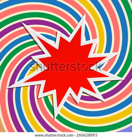 star splash festive abstract background design - stock vector