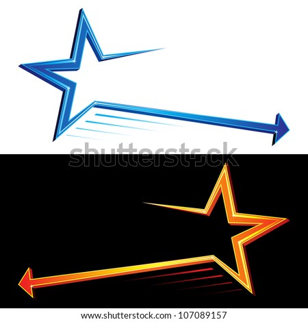 Star symbols - stock vector