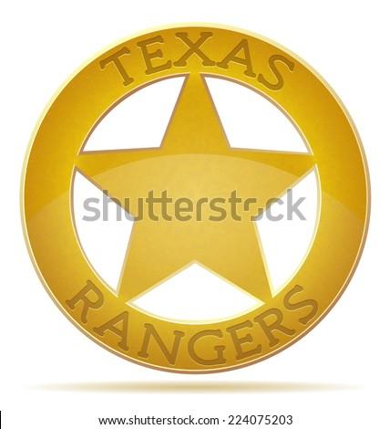 star texas ranger vector illustration isolated on white background - stock vector