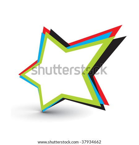 star vector design elements with isolated on white background - stock vector