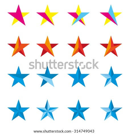 Star vector design logo  - stock vector