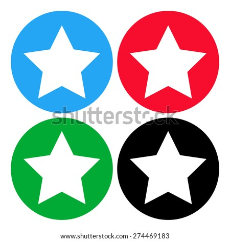 Star vector icon with shadow - stock vector