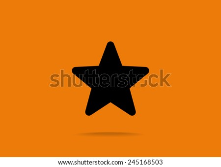 Star web icon. vector design - stock vector
