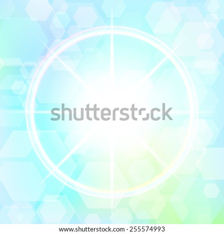 Star with bokeh effect. Vector. 1 Vector.  - stock vector
