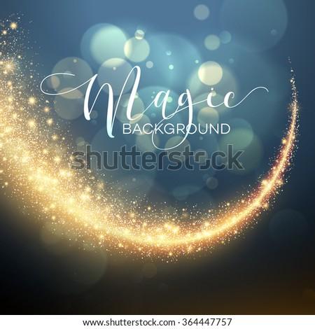 Starry Glitter Trail Background. Vector illustration EPS10 - stock vector