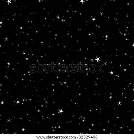 Starry night seamless pattern - stock vector