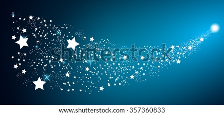 Starry Sky on Blue Background. Vector Illustration. EPS10 - stock vector