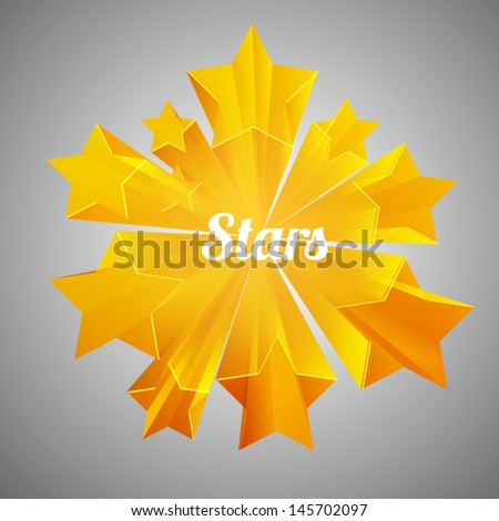 stars - stock vector
