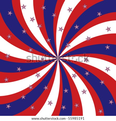 Stars and stripes - stock vector
