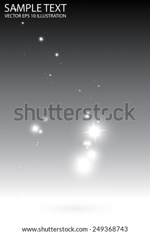 Stars falling abstract background vector template - Vector sparkles fall gray background illustration - stock vector