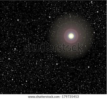 Stars in space vector - stock vector
