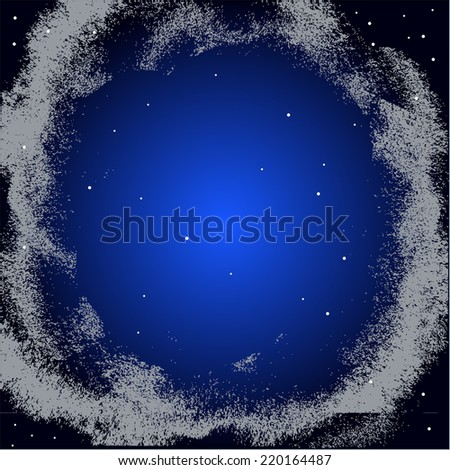 Stars in the night sky - stock vector