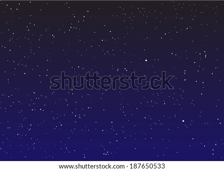 Stars in the night sky vector - stock vector